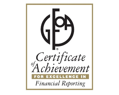 Certificate of Achievement For Financial Achievement